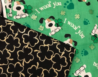 "St. Patricks day ""i woof you"" made to order"