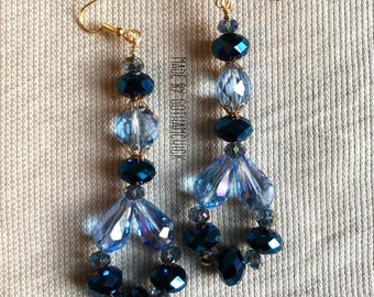 Midnight Blue crystal shimmer earrings