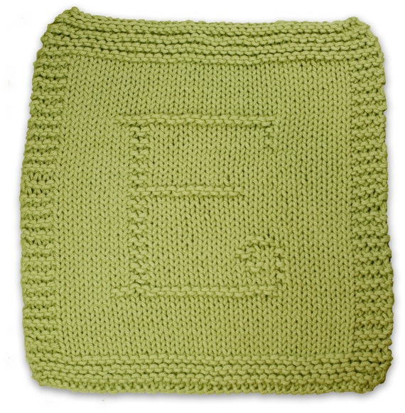 Initial Knitting Patterns A Pdf Collection Of Dishcloth Knitting