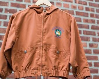 Boys Bossini Kids Tan Windbreaker jacket with Hood Size 8/9