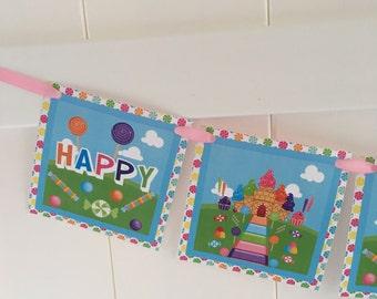 Candyland Birthday Banner