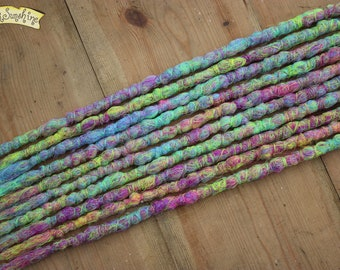 Sweet Stuff SE x10 Crochet Synthetic hair - pink blue yellow accent