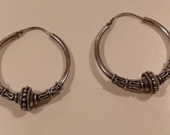Vintage earring in silver from the 1980's from India