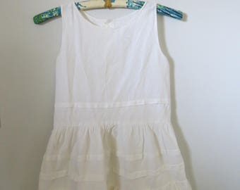 NEW PRICE--Vintage Handmade Portuguese 100 % Cotton Children's Slip or Dress
