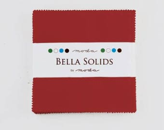 Charm Pack-5 inch squares-Moda-Red Solid