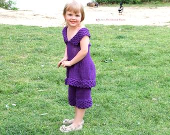Crocodile Stitch Girly Cropped Set