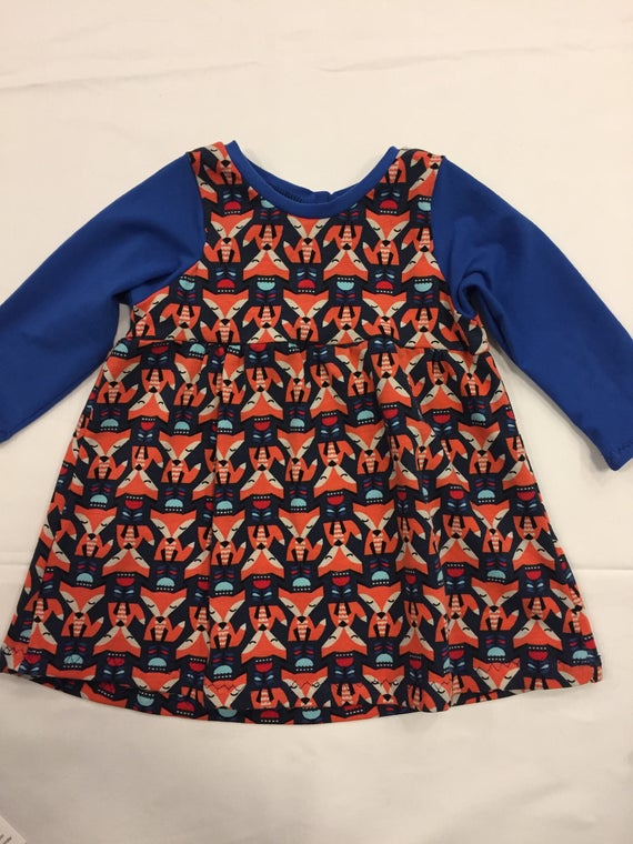Foxy flowers jersey girls dress baby gift like this item negle Gallery
