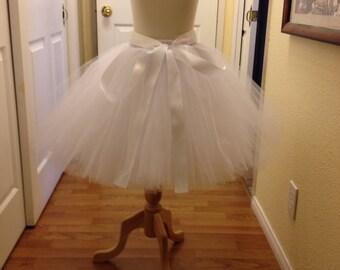White flowergirl skirt