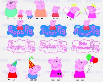 Peppa Pig SVG - Peppa Pig Clipart - Peppa Pig Digital Clip Art for Design or more , files download svg, eps, jpg, png