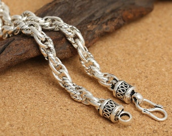 silver men fashion quality chain store sterling product high jewelry bracelets rope twisted necklace for chains set s