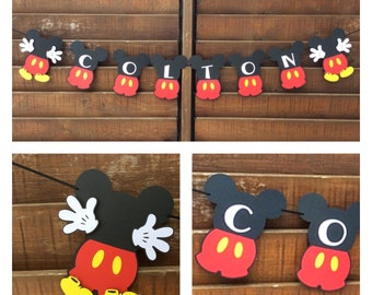 "Minnie Mouse ""NAME"" banner /Minnie Mouse Happy Birthday / Mickey Mouse clubhouse banner  / Minnie Mouse Birthday banner / Minnie Mouse name"