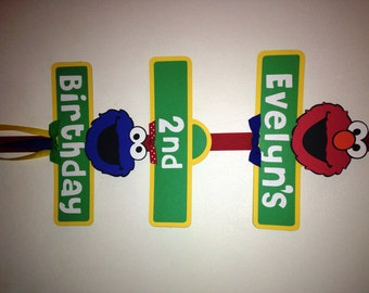 Sesame Street Birthday Party Sign