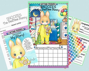 Snoozes the Bedtime Bunny, Bedtime Routine Chart Set
