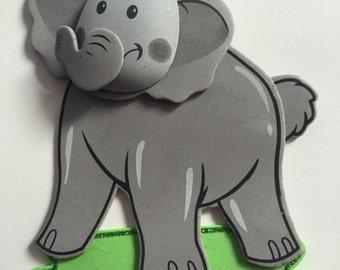 Animal foam,Elephant foam, party decor, centerpiece supplies, Elephant party decor, zoo animal decor, party craft,Elephant birthday party