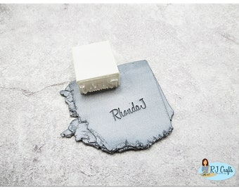 Personalized Signature/Name Stamp For Clay
