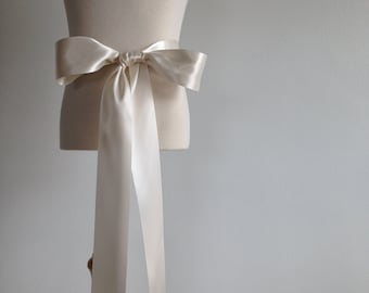 Flower girl dress sash