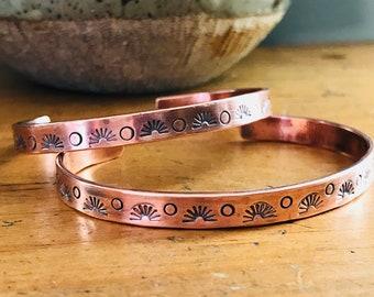 Sun & Moon Copper Cuff