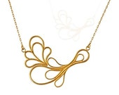 Gold Flower Necklace, Uni...