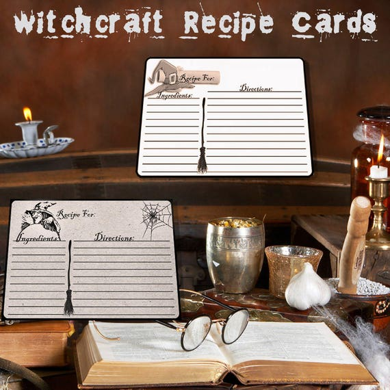 Witch Recipe Cards - Spell Cards