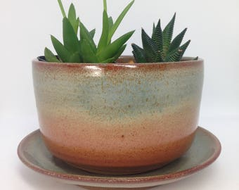 Large Planter, Succulent Planter, Ceramic Planter, Fern Pot, Drainage Planter, Clay Planter, Desk Planter, Cactus Container, MADE TO ORDER