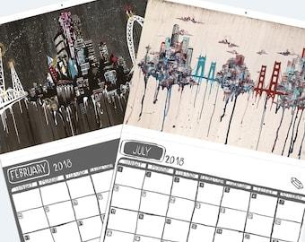 UB 2018 Rainy City Calendar