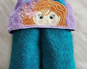 Kids Hooded Towel.Mermaid Kids Hooded Towel,Child's Hooded Towel,Personalized Kids Hooded Towel,Hooded Bath Towel,Kids Gift,Kids Bath Towel