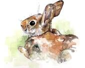 Bunny Nursery Painting - ...