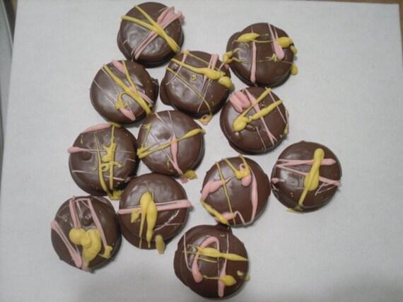 One Dozen Chocolate Covered Golden Oreos