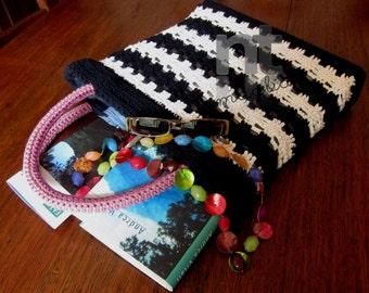 """Crochet Bag Pattern """"Sportina Dervio"""" by NTmaglia, CrochetTote Pattern, Crochet Purse Pattern downloadable .pdf file"""