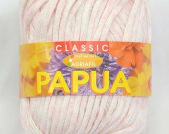 Adriafil Papua DK Ribbon Tape 100% Cotton Knitting Yarn - Pastel Pink, Pastel Green and Sea Green