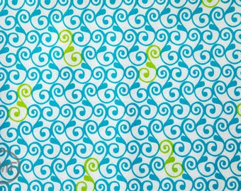 Perfectly Perched Swirl in Meadow, Laurie Wisbrun, Robert Kaufman Fabrics, 100% Cotton Fabric, AWN-12850-270 MEADOW