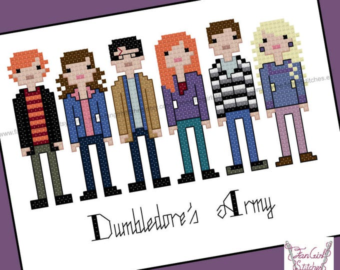Harry Potter themed - Dumbledore's Army cross stitch - PDF Patterns - INSTANT Download