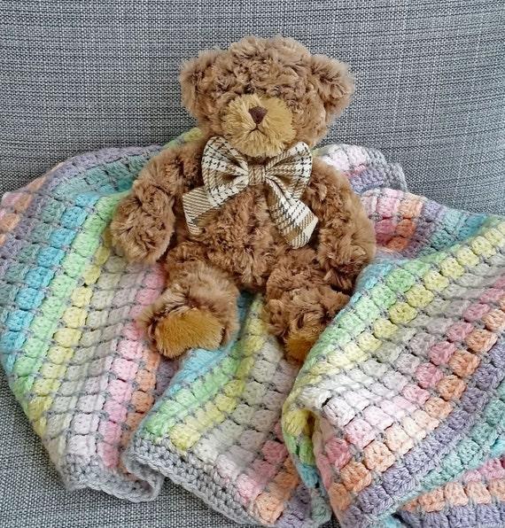 Vintage Rainbow Kinderbett Decke Bausatz häkeln-Baby-Decke