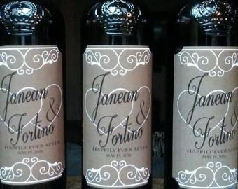 Rustic Wine Bottle Labels, Wedding Wine Bottle Labels, Custom Wine Labels
