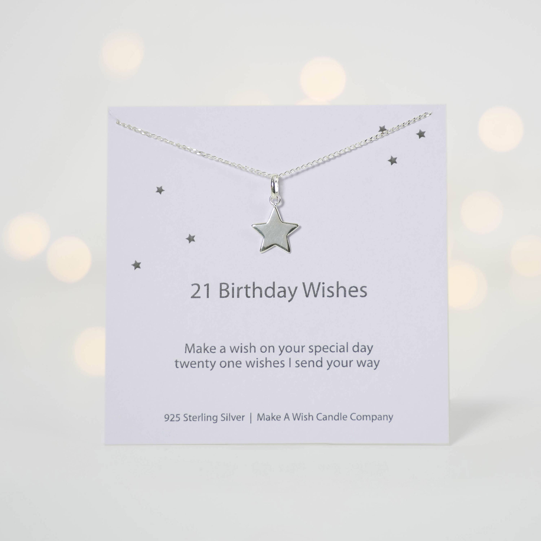 21st Birthday Gift 21 Birthday Wishes Necklace 21st Birthday