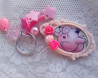 Pokémon Keychain - CLEFAIRY Trading Card  - Ita bag -  Pokemon GO - Gamer Gear, Stocking Stuffer