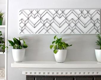 Geometric wall art, Geometric art, Modern wall art, Black and white wall art, 3D wall art, Abstract art, Unique wall art, Modern home decor
