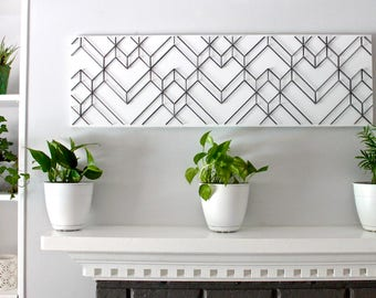 Geometric Wall Art, Geometric Art, Modern Wall Art, Black And White Wall Art,  3D Wall Art, Abstract Art, Unique Wall Art, Modern Home Decor