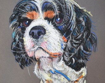 Custom Pet Portrait of your Pet , Pet Art, Dog Drawing, Original, Pet Memorial, Custom A3 (30x42cm) Portrait of your pet, 1 subject.