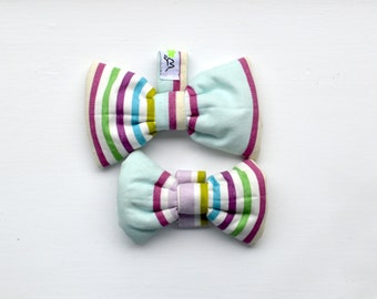 Lovely Pastel Colored Bands Pet Bow Tie