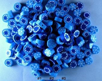 171 Polyclay Snow Flake Beads - Destash Sale