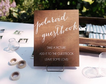 Photo Guestbook Sign, wedding guestbook sign, please sign our guestbook, picture guestbook, wood wedding signs, wooden wedding signs, wood