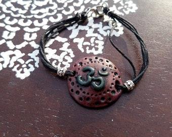 OM Meditation hemp bracelet