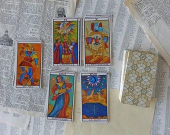 Vintage tarot of Marseilles - Vintage playing cards - Fortune telling cards - Vintage deck