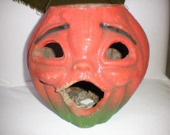 Wonderful Vintage Paper Mache Pumpkin