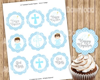 Baptism Cupcake Toppers, Baptism Cupcake, Baptism Toppers, Baptism Party, Baptism Decorations, Baptism Baby, Baptism Decor, Baptism labels