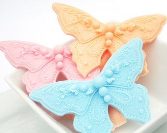 30 Baby Shower Favors Butterfly Soap Favors - Wedding Shower Favors - Optional Personalized Labels and Gift Box