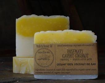 Rosemary Carrot Coconut Soap | Rosemary Soap, Coconut Soap Bar, Coconut Oil Soap, Carrot Soap, Rosemary Soap, Carrot Soap Bar