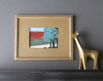 wall art - Joshua Tree - original acrylic painting - home decor - framed artwork
