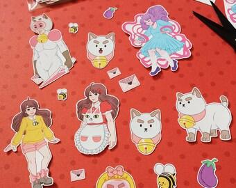 Bee + Puppycat Sticker Set - Mini